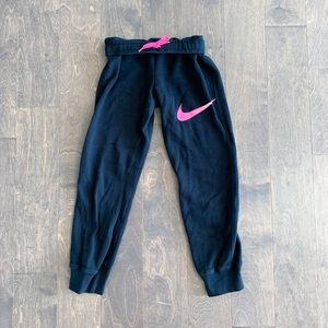 Nike Black & Pink Sweat Pants